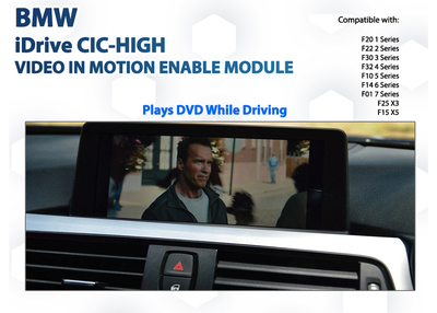 BMW CIC-HIGH iDrive F20 / F30 / F32 / F10 / F25 Video In Motion DVD Drive playback Enable Module