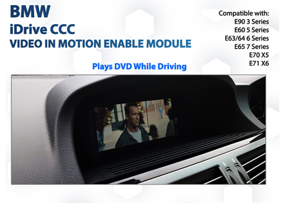 BMW CCC iDrive 5 Series / 6 Series / 7 Series - Video In Motion DVD Drive playback Enable Module