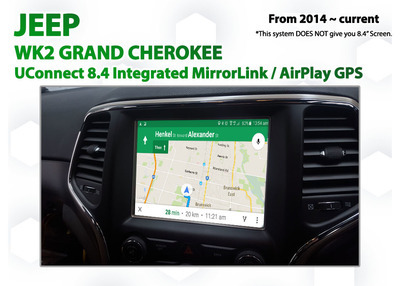 Jeep Grand Cherokee UConnect 8.4 Integrated Smartphone MirrorLink / AirPlay GPS system