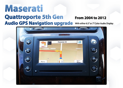 [2004-2010] Maserati Quattroporte 5th Gen- Touch Screen GPS Navigation Map Upgrade