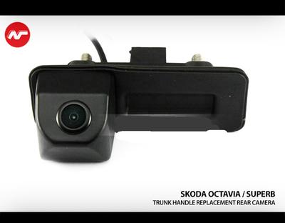 [2012 - Current] Skoda Octavia / Skoda SuperB Trunk handle Replacement Back up Rearview Camera.