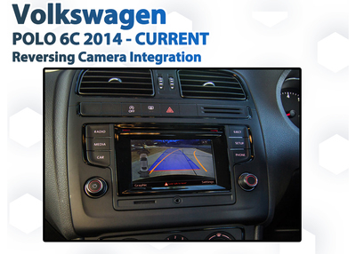 Volkswagen Polo 6C 2014 - 2019 // Audio Integrated Reversing Camera Upgrade Kit