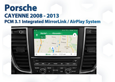 Porsche Cayenne PCM3 Factory Audio Integrated Smartphone MirrorLink / AirPlay GPS system