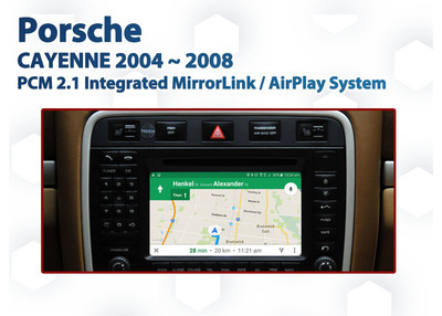 Porsche Cayenne PCM2 Factory Audio Integrated Smartphone MirrorLink / AirPlay GPS system