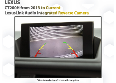 [2012-] Lexus CT200h Audio Integrated Reversing Camera Upgrade