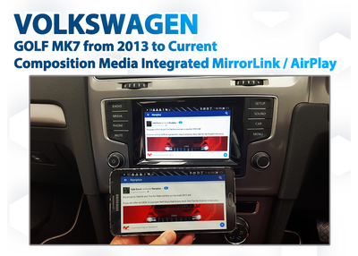 VW Golf Mk7 Composition Media Audio Integrated Smartphone MirrorLink / AirPlay GPS system