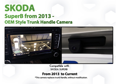 [2008 - 2015 ] Skoda SuperB Columbus Add-on Back up Rearview Camera System upgrade