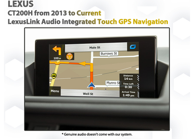 [2012-2018] Lexus CT200h Audio Integrated Touch GPS Navigation Upgrade