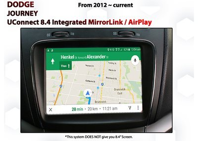 Dodge Journey [2012-Current] UConnect 8.4 Integrated MirrorLink / AirPlay System