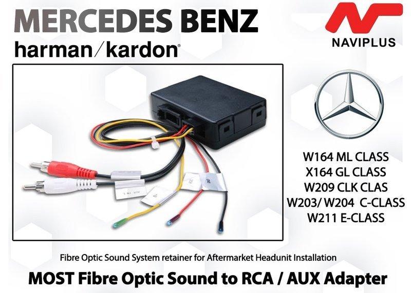 Mercedes Benz Harman kardon  MOST Fibre optic Sound Adapter for Aftermarket Headunit