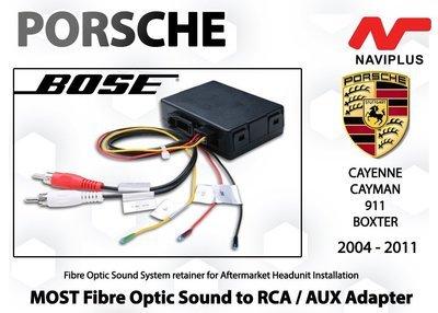 Porsche BOSE Sound MOST Fibre optic Sound Adapter for Aftermarket Headunit