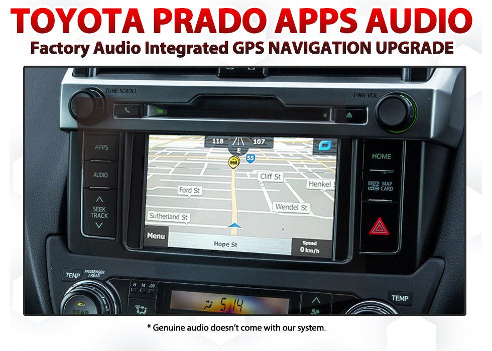 Toyota Prado 2013 - 2015 Jun APPS Audio - GPS NAV Integration