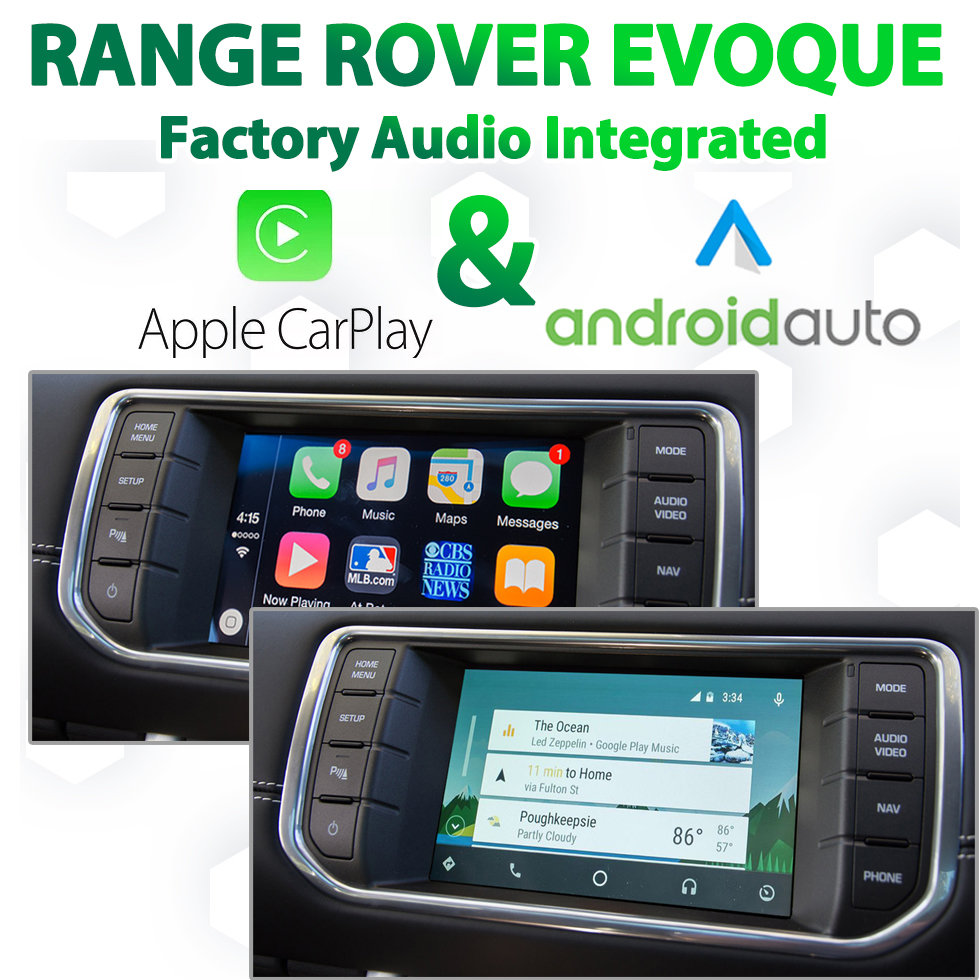 Range Rover Evoque 2012 - 2016 Factory Audio Integrated Android Auto & Apple CarPlay Package Kit
