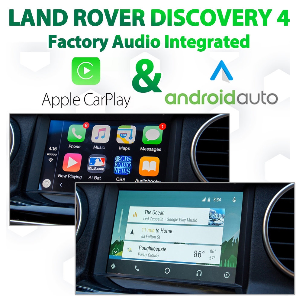 Land Rover Discovery 4 2012 - 2015 Factory Audio Integrated Android Auto & Apple CarPlay Package Kit