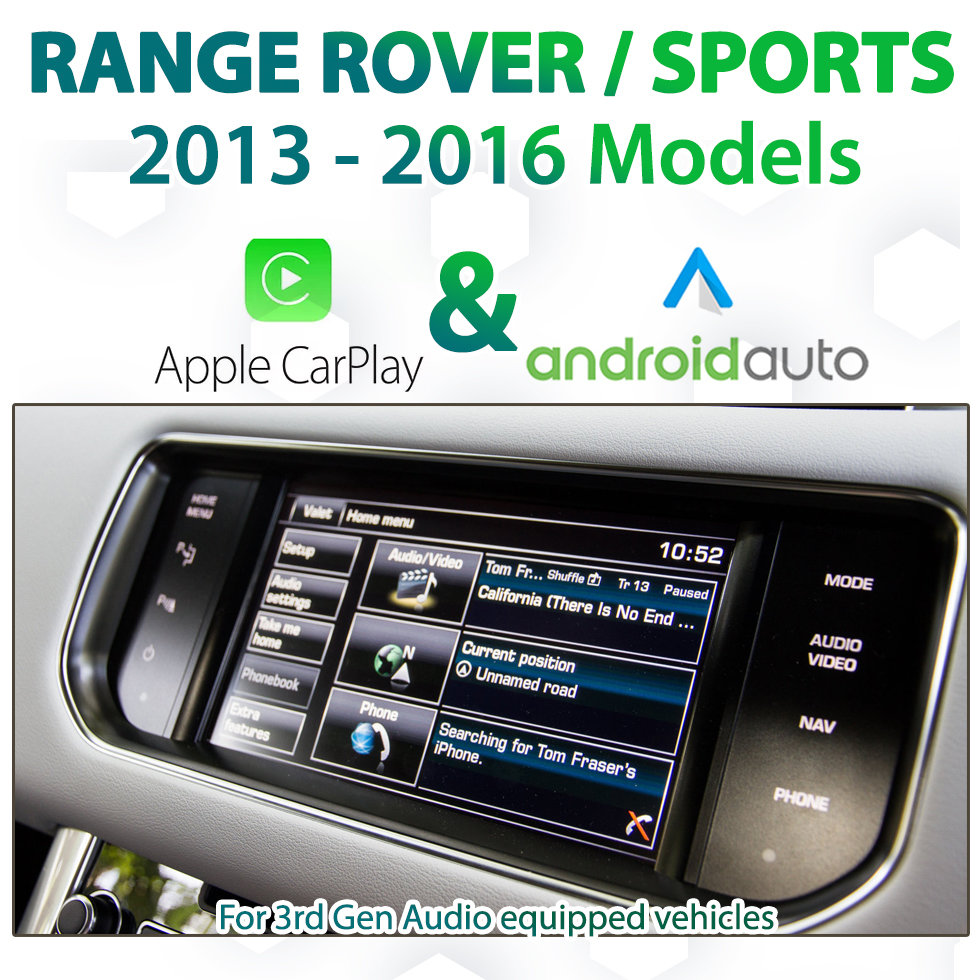 Range Rover / Sports 2013- 2015 - Factory Audio Integrated Android Auto & Apple CarPlay Package Kit