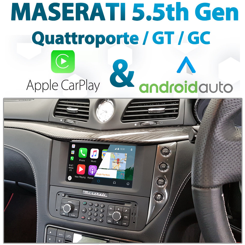 Maserati 5.5th BOSE Factory Audio Integrated Android Auto & Apple CarPlay Package Kit