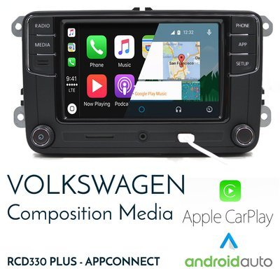 [Limited stock] Volkswagen RCD340 MIB AppConnect headunit - CarPlay & Android Auto integrated headunit