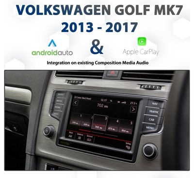 Volkswagen Golf MK7  Factory Audio Integrated Android Auto & Apple CarPlay