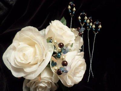 Bouquet Picks - Royal Blue/Chocolate/Ivory