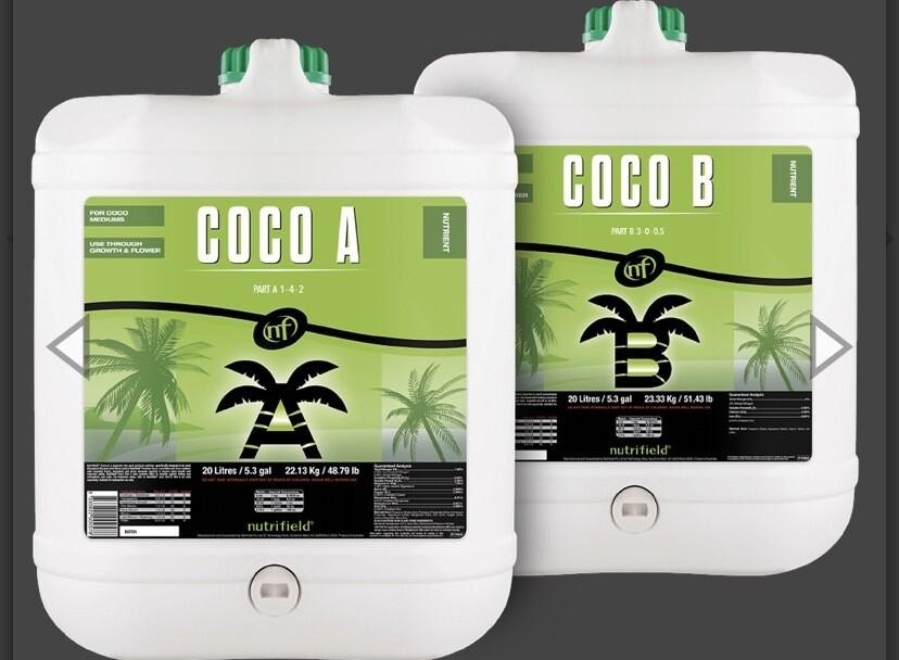 Nutrifield Coco A & Coco B 20L Pair