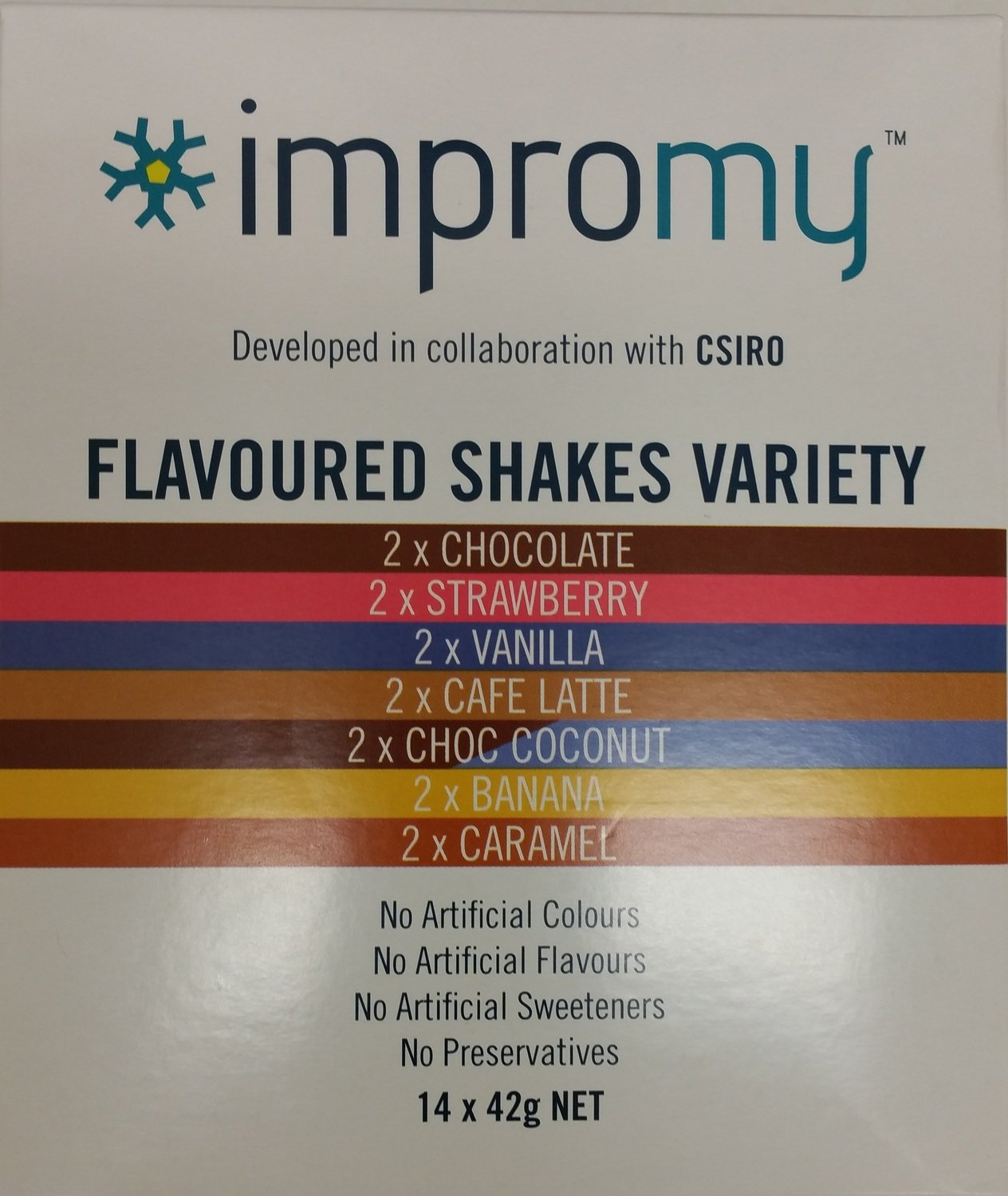IMPROMY SHAKES (VARIETY PACK) x14 (Instore pickup only)