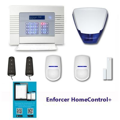 2/3 Bedroom alarm system.This Enforcer Wifi HomeControl+ Kit alarm System kit comes supplied and installed in Cambridgeshire,Suffolk & Norfolk by a professional, friendly family installer.