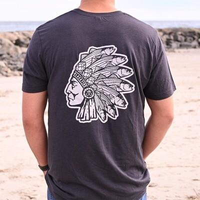 Short Sleeve The Chief T-Shirt: Charcoal Grey