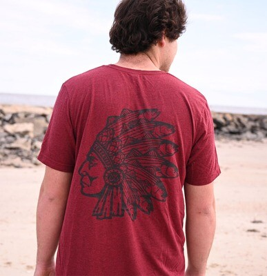 Short Sleeve The Chief T-Shirt: Burgundy