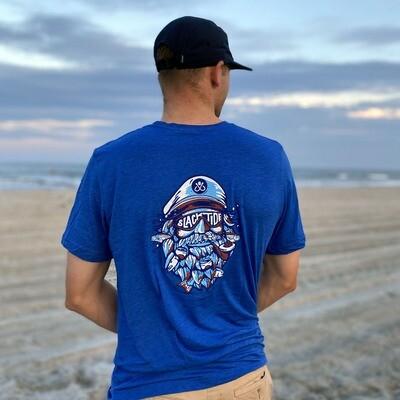 Dark Blue Salty Captain T-Shirt