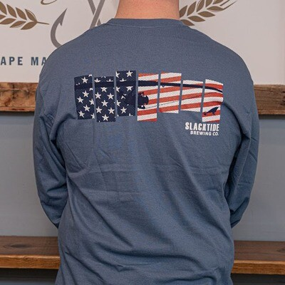 Blue American Fishing Long Sleeve