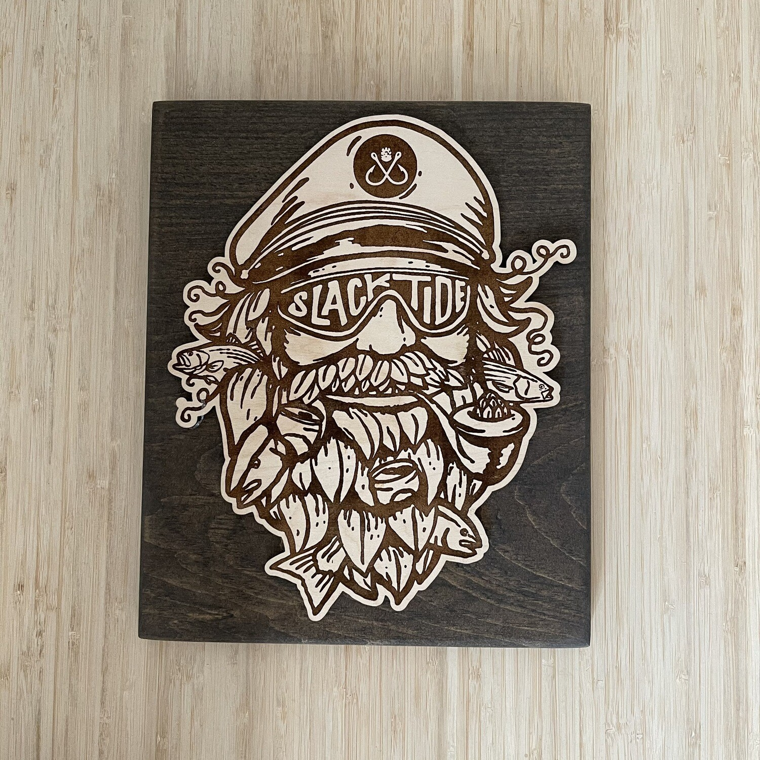 Wooden Captain Salty Sign
