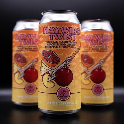 Haywire Twist with Peaches, Pineapple, Pomegranate and Blood Oranges