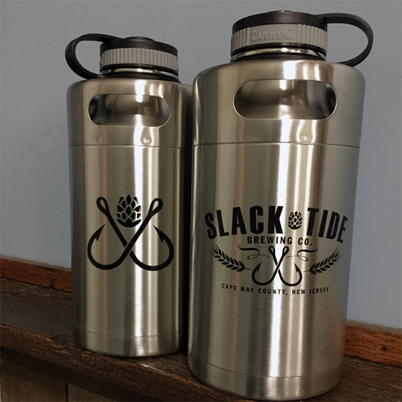 64oz Double Walled Insulated Stainless Steel Keg Growler: Silver