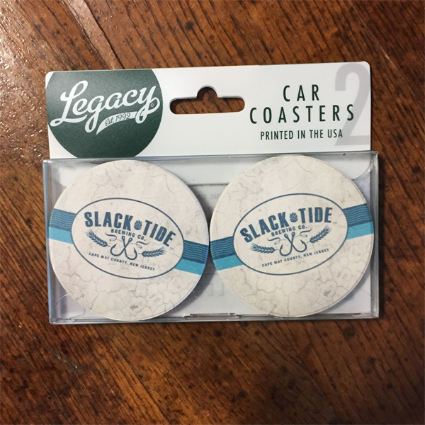 Slack Tide Car Coasters - Set of 2 with Flagship Logo