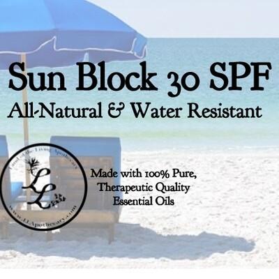 Sun Block 30 SPF Water Resistant | (Natural)