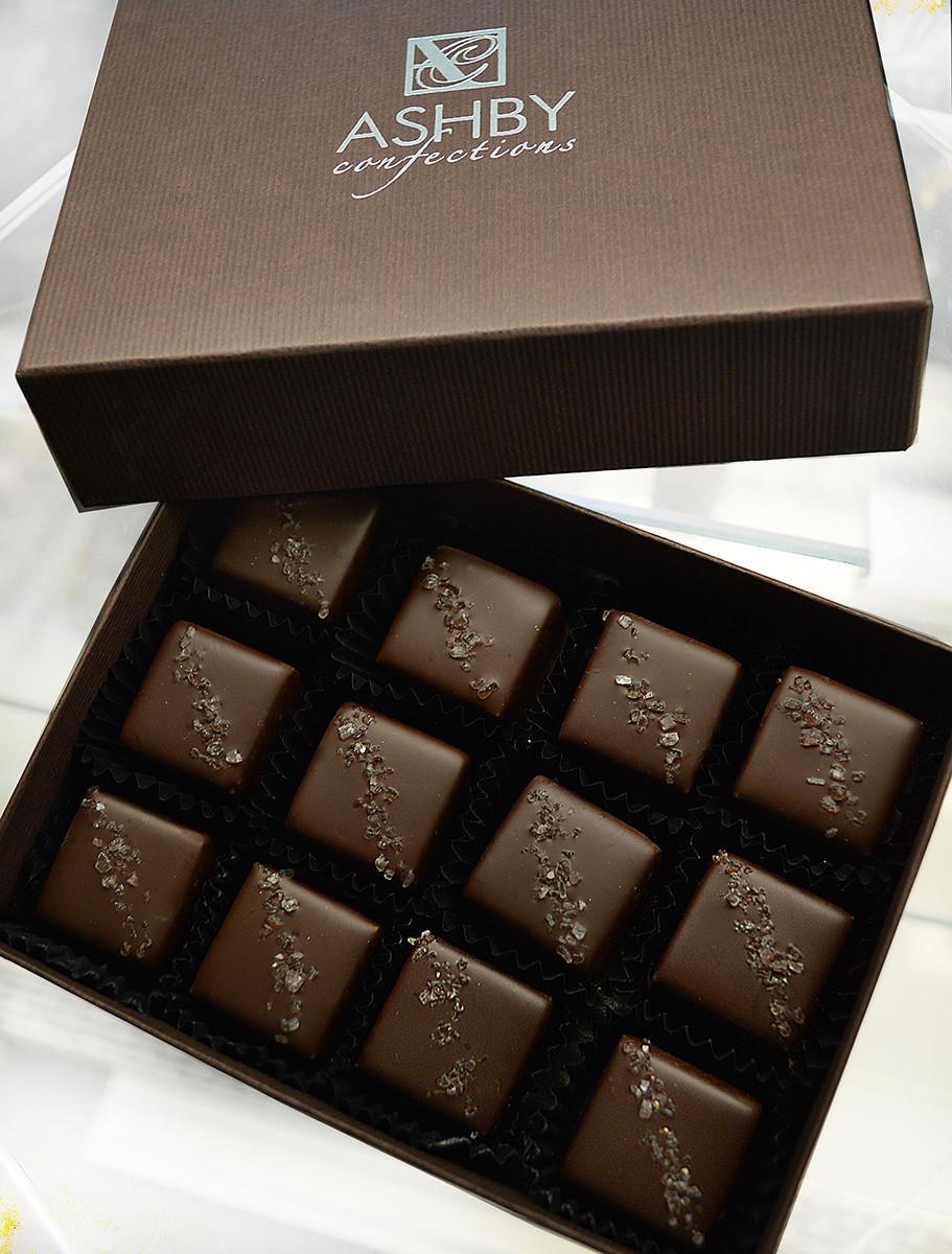 12-Piece Dark Chocolate Salted Caramels