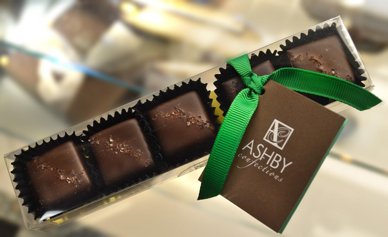 6-Piece Dark Chocolate Salted Caramels
