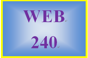 WEB 240 Week 2 Individual: Virtual Organization Project, Part 1