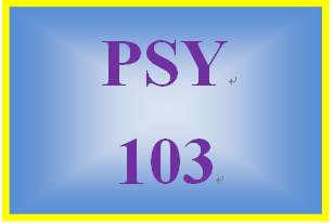 PSY 103 Week 4 Lifespan Development and Personality Paper