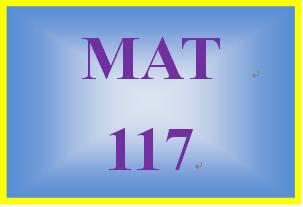 MAT 117 Week 8 MyMathLab Study Plan for Week 8 Checkpoint