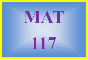MAT 117 Week 9 MyMathLab Study Plan for Final Exam