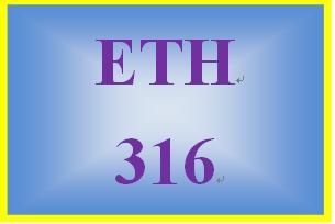 ETH 316 Week 3 Organizational Ethics