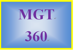 MGT 360 Week 4 Sustainable Strategy Management Assessment
