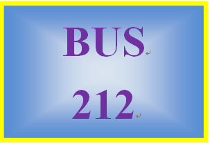 BUS 212 Week 5 Collaborative Discussion Reflection