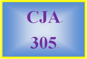 CJA 305 Week 5 Week Five Worksheet