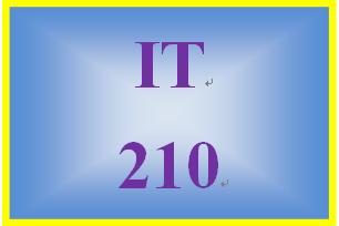 IT 210 Week 8 Object-oriented design