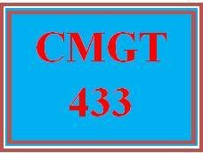 CMGT 433 Week 3 Learning Team: Red Team/Blue Team Exercise, Part II