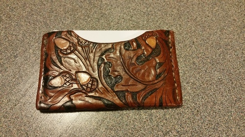 Handcrafted Leather Business card holder
