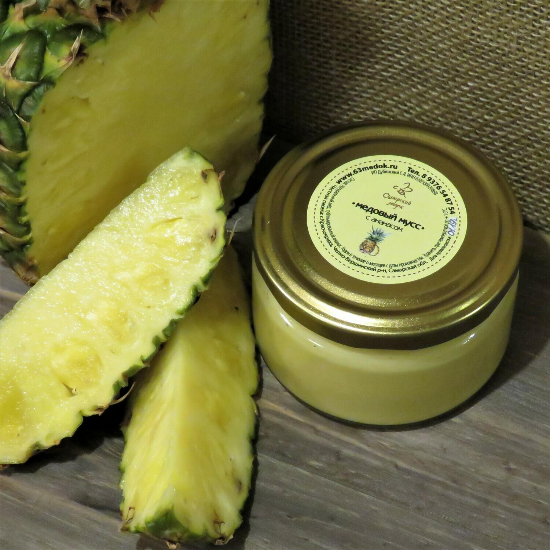 Медовый мусс с ананасом, 250 мл.