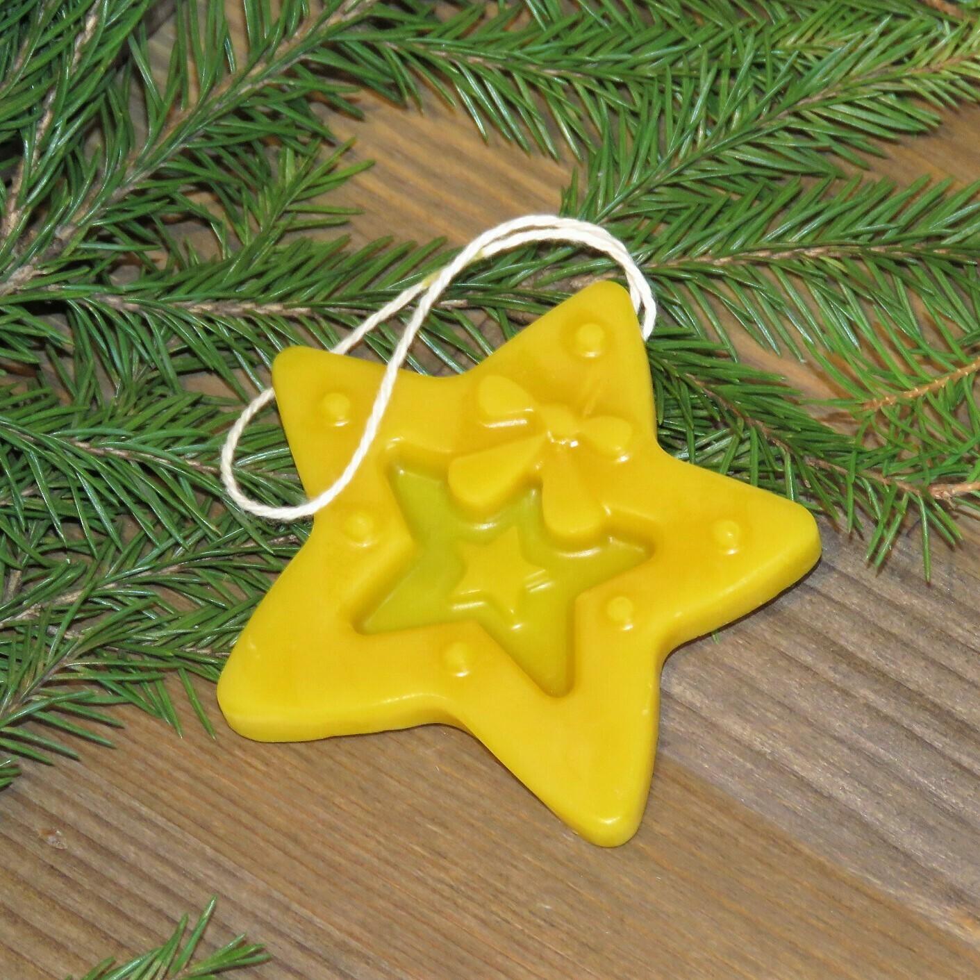 """Елочная игрушка из натурального воска """"Звезда"""""""